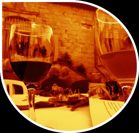 verre bulle sépia rouge